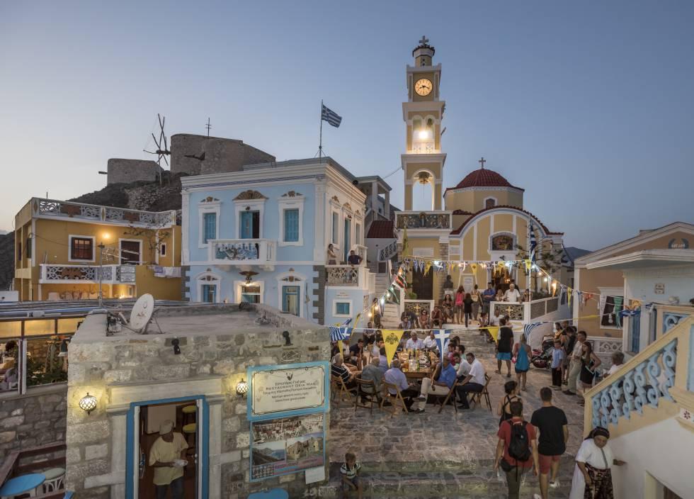 La población de Olimpos, en las islas Cárpatos (Grecias).