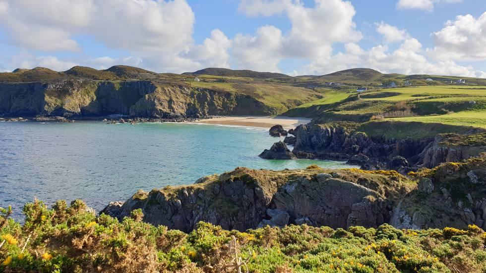 La costa de la península irlandesa de Fanad.