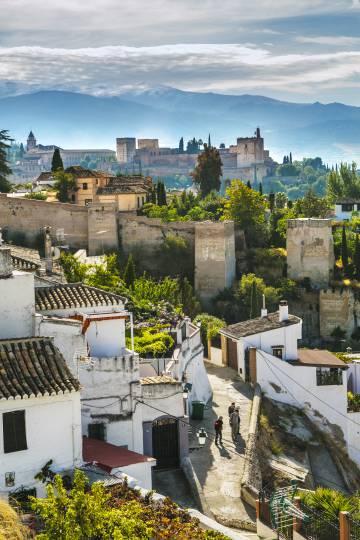 La Alhambra de Granada desde el barrio del Albaicín.