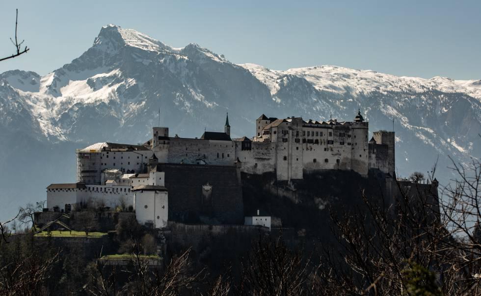 Panorámica de la fortaleza de Festung Hohensalzburg, una de las más grandes y mejor conservadas de Europa.