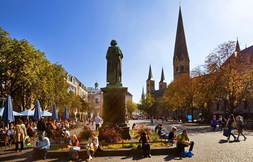 La céntrica Münsterplatz, en Bonn.