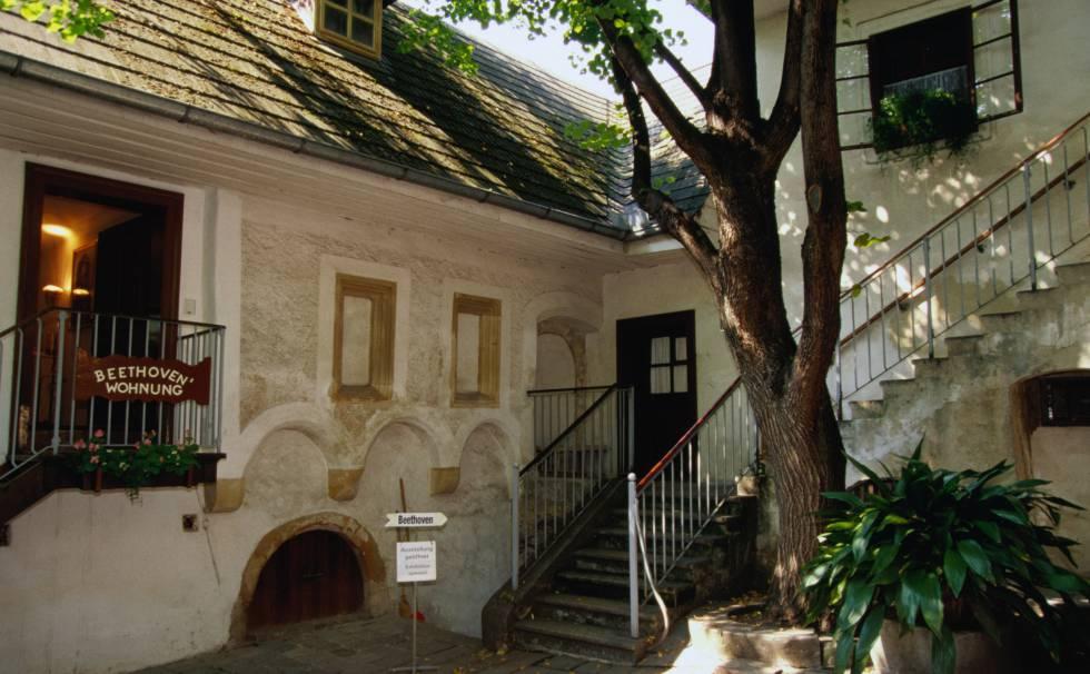 Patio de la residencia de Heiligenstadt, a las afueras de Viena.