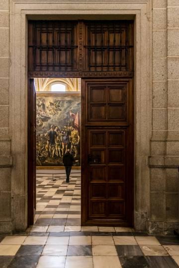 Martirio de San Mauricio y la Legión Tebana, obra de El Greco, en las salas capitulares.