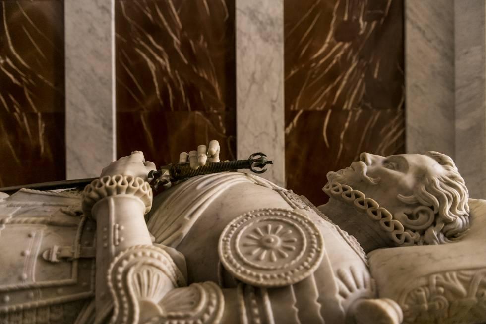 El sepulcro de don Juan de Austria en el Panteón de Infantes.