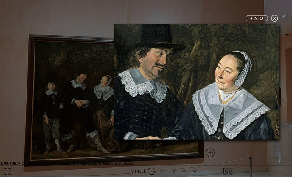 El cuadro 'Grupo familiar ante un paisaje', de Frans Hals, en la visita virtual al museo Thyssen de Madrid.