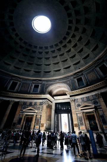 El interior del Panteón de Roma.