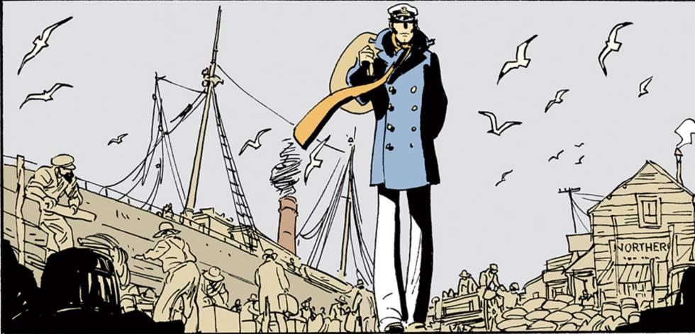 Corto Maltés, protagonista del cómic creado por Hugo Pratt.