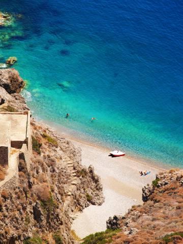 Una playa de la isla griega de Citera.