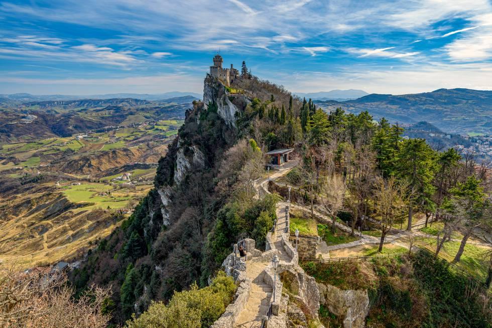 La torre de Falesia en San Marino.