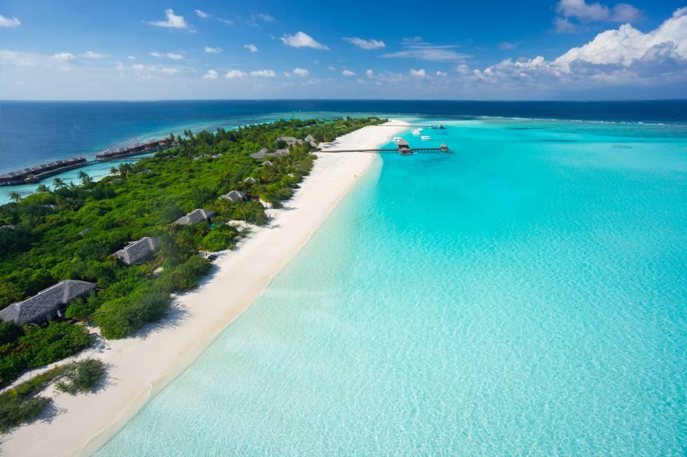 Complejo turístico en una isla de Maldivas.
