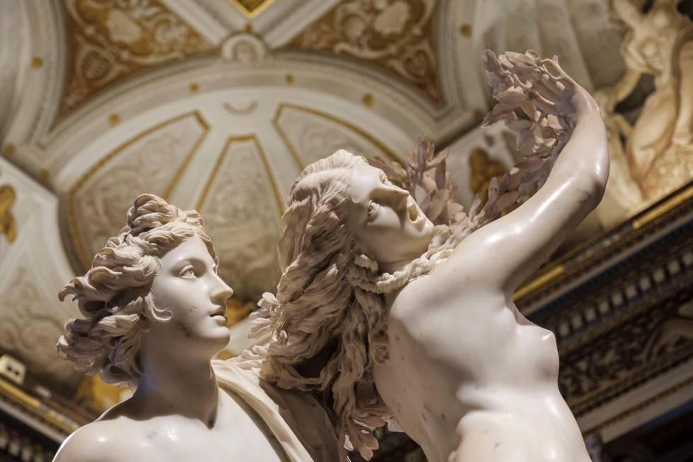 La escultura 'Apolo y Dafne', en la Villa Borghese, en Roma.