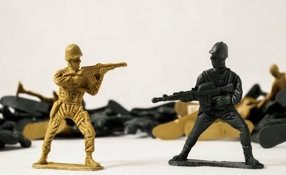 Soldados de plomo, un juguete originario de Alemania.