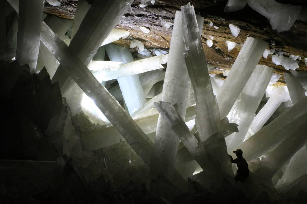 Interio de la cueva de Naica, en el Estado mexicano de Chihuahua.