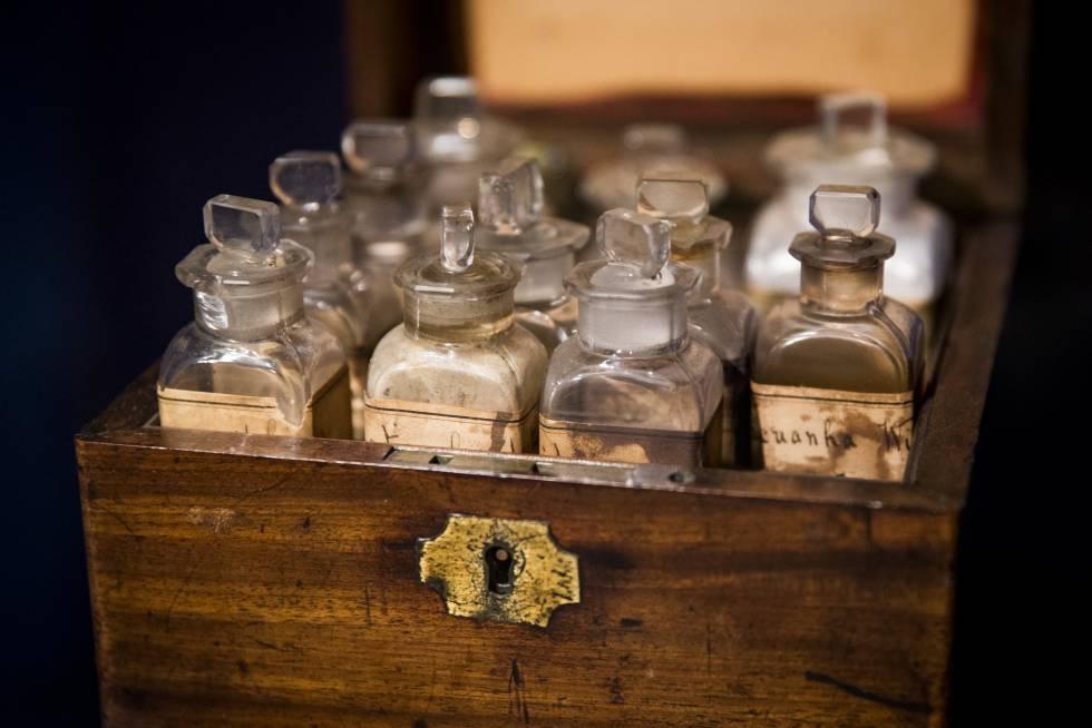 El botiquín que utilizó Florence Nightingale durante su trabajo como enfermera en la guerra de Crimea.