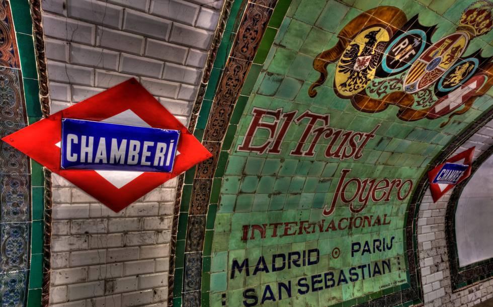 La estación de metro de Chamberí, hoy convertida en museo.