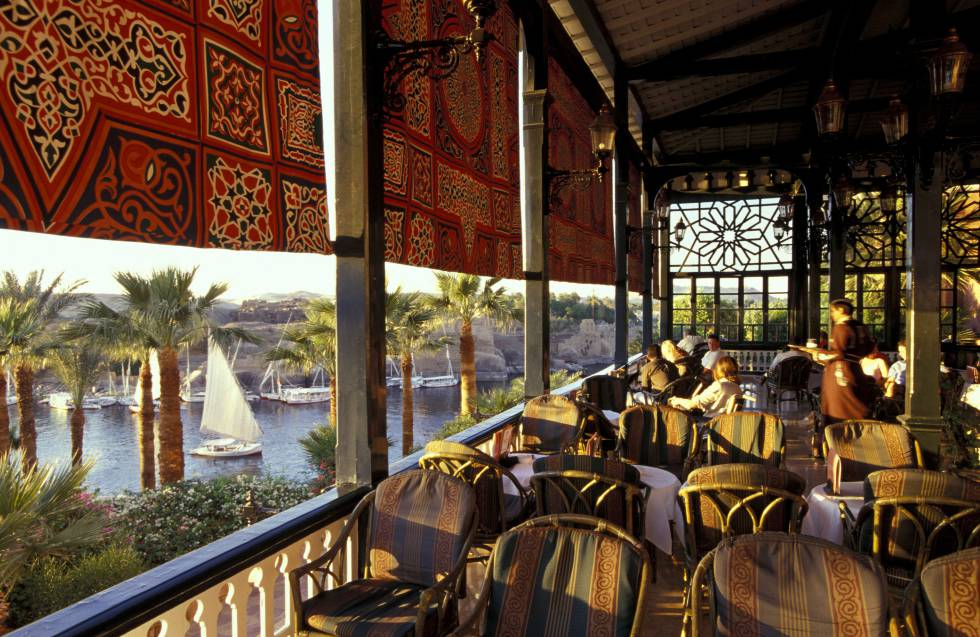 Vistas del Nilo desde la terraza del Cataract Hotel (Egipto).