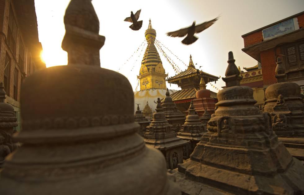 El templo de los monos, en Katmandú.