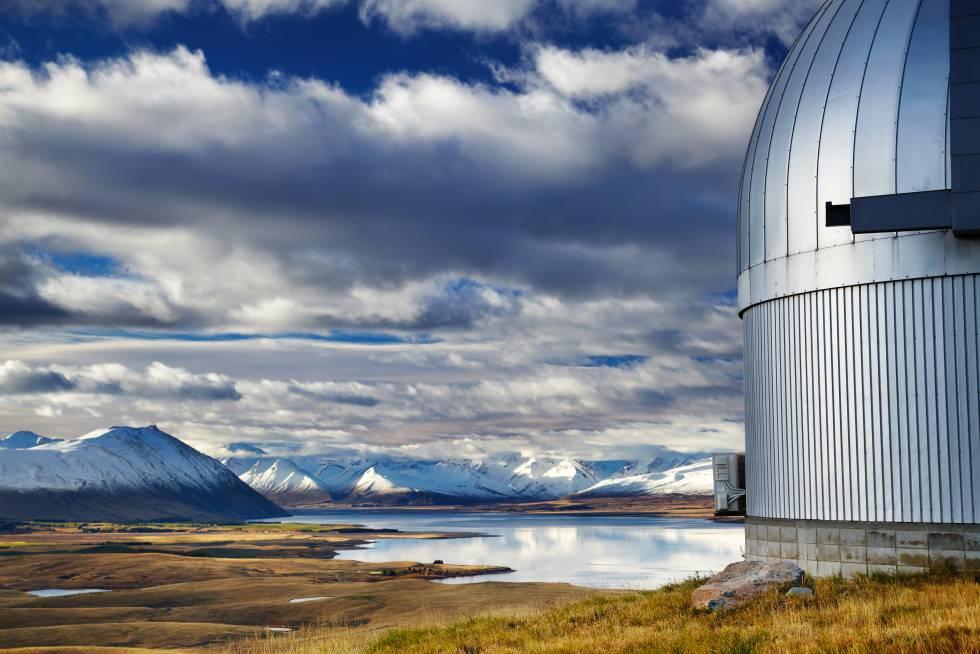 El observatorio Mount John, en Nueva Zelanda.