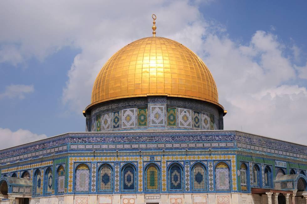 El Domo de la Roca, en la Explanada de las Mezquitas de Jerusalén.