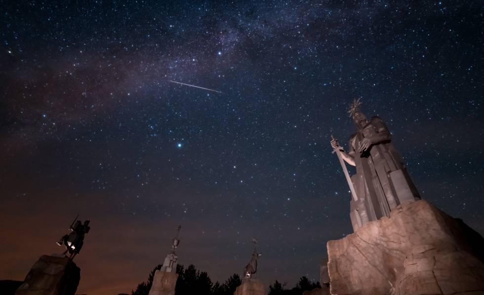 Monumento al río Tajo en las proximidades de la localidad de Frías de Albarracín, en Teruel.