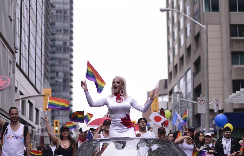 Celebración de la Annual Pride Parade de 2018 en Toronto (Canadá).