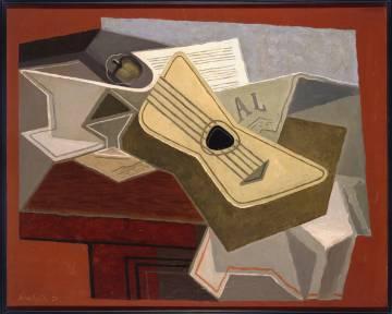 'Guitare et journal' (Guitarra y periódico) (1925), de Juan Gris. Uno de los cuadros que se pueden explorar en el portal 'Maravillas de España'.