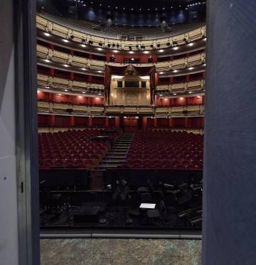 Interior del Teatro Real, en Madrid.