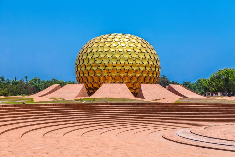 Auroville, la Ciudad del Amanecer en Puduchery, en el Estado de Tamil Nadu, en el sudeste de la India.