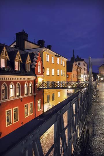 La calle Bellmansgatan de Estocolmo, donde se encuentra la casa del periodista Mikael Blomkvist, protagonista de la saga 'Millenium'.