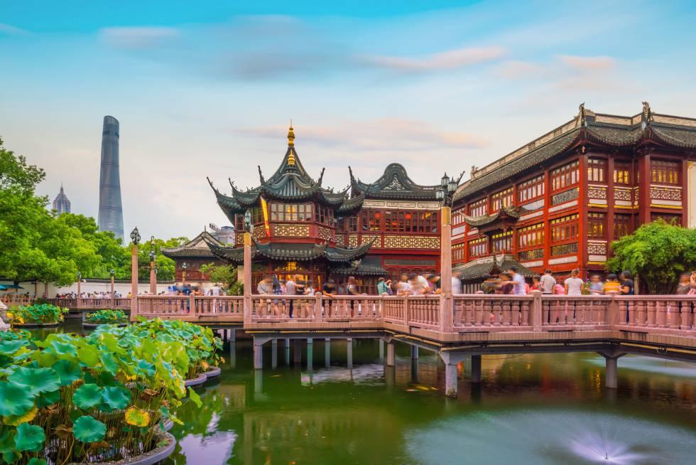 El jardín de Yuyuan, en Shanghái (China).