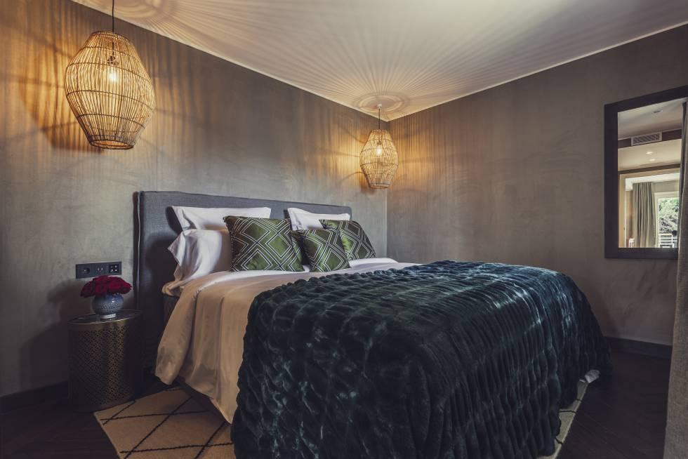 Una de las habitaciones del hotel Boho Club Marbella.