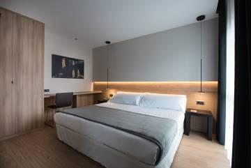 Habitación del hotel Terradets, en Cellers (Lleida).