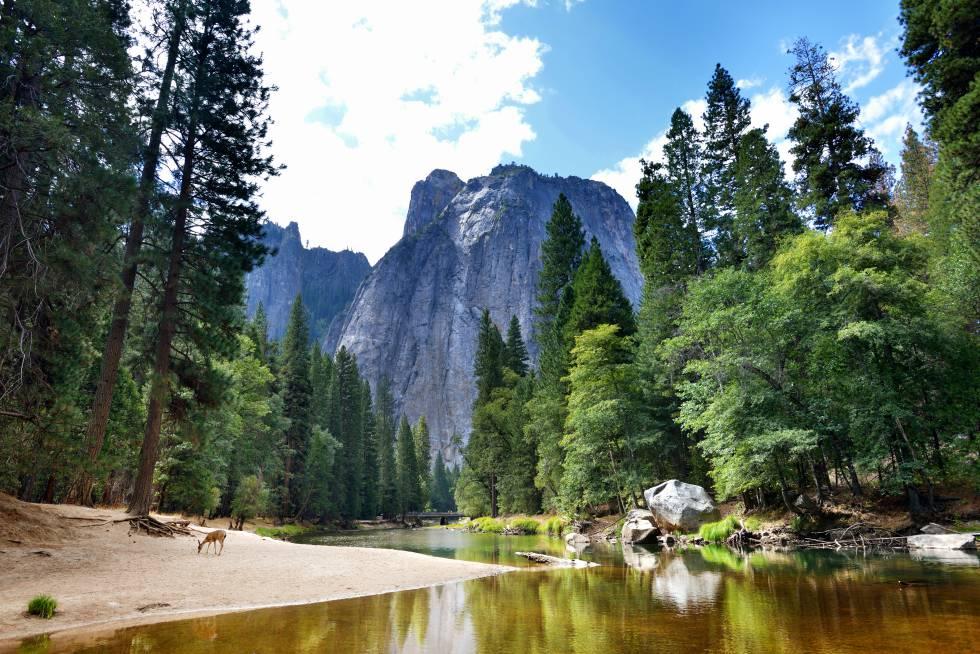 Panorámica del parque nacional de Yosemite, en California (EE UU).