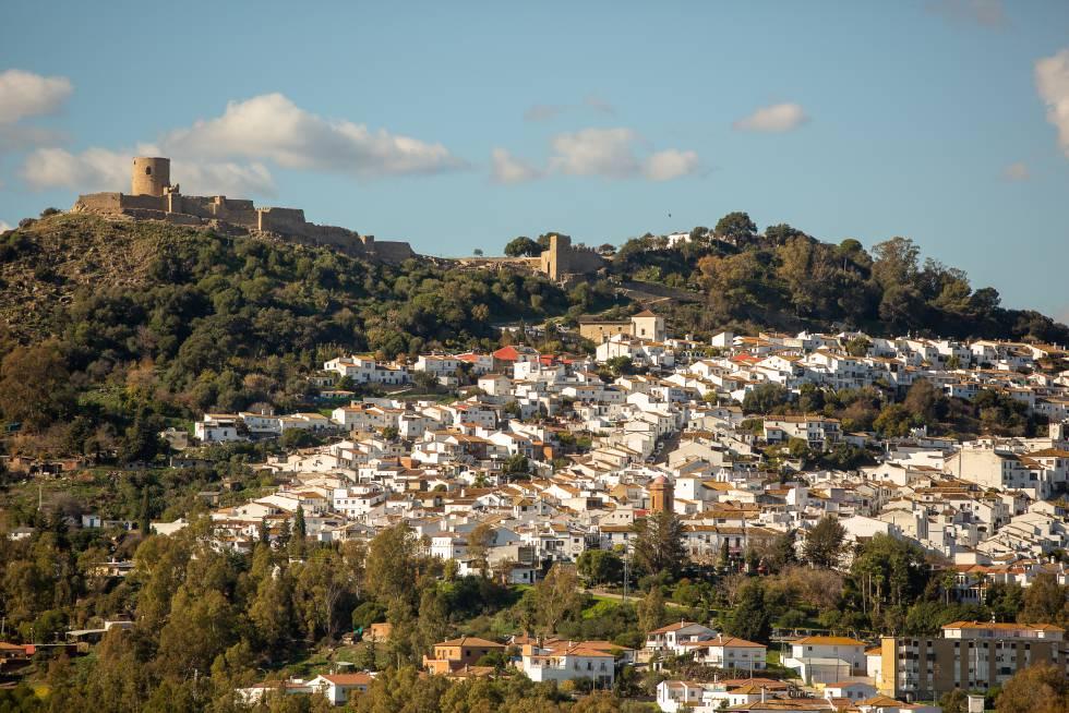 Vista del pueblo de Jimena de la Frontera, en Cádiz.