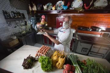 Imanol Elizalde, cocinero de El Kasino de Lesaka.