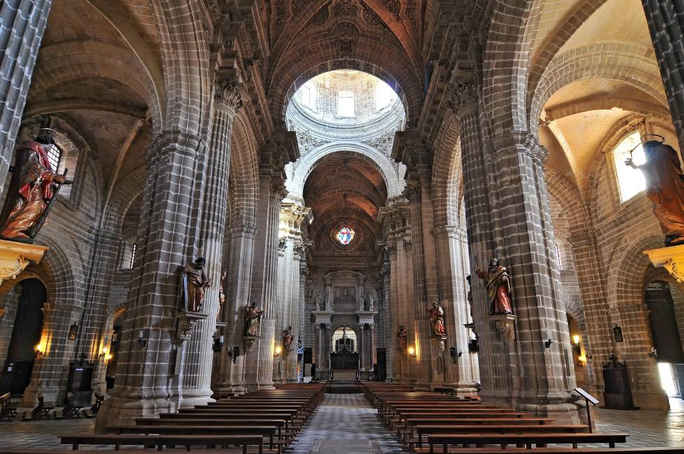 Interior of the Cathedral of Jerez (Cádiz).