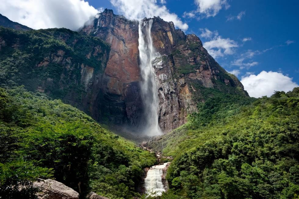 El Salto del Ángel, el principal atractivo turistico de Venezuela.