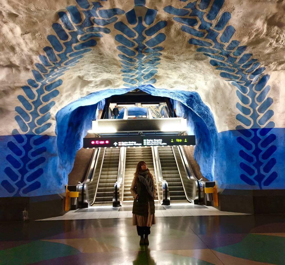 La estación de metro de T-Centralen.