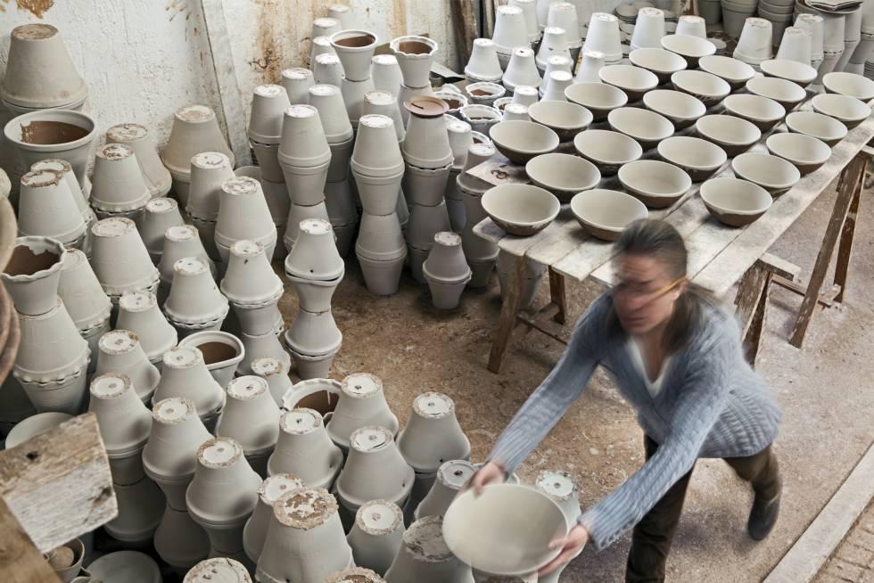 The potter workshop of Ángel y Loli in Níjar (Almería).