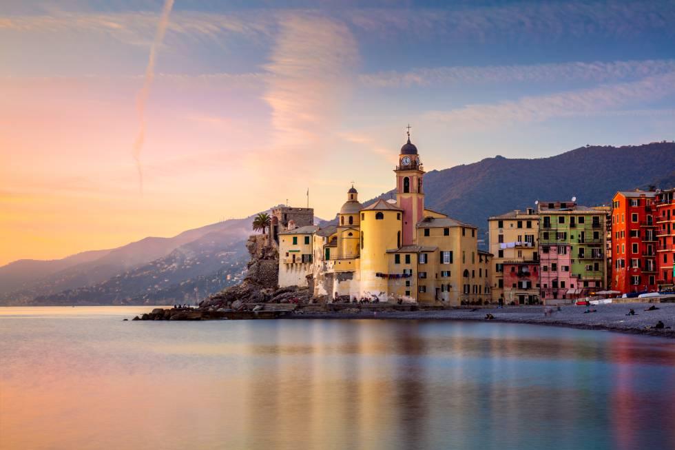 Villa de Camogli, en la costa italiana de Liguria.