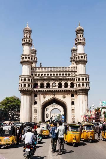 Plaza del Charminar, en la ciudad india de Hyderabad.