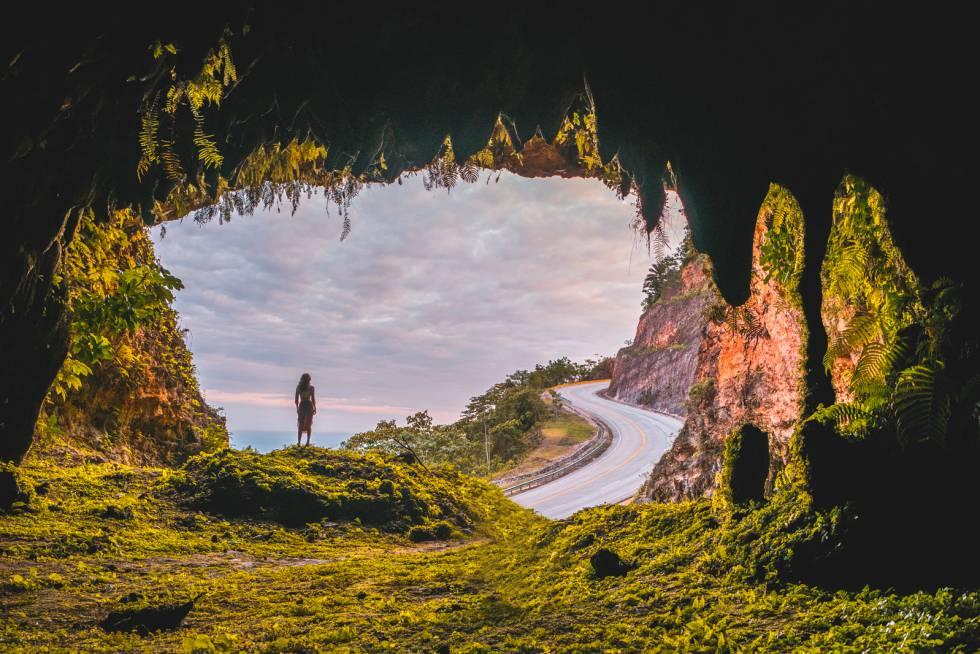 Una cueva en el parque nacional de los Haitises.