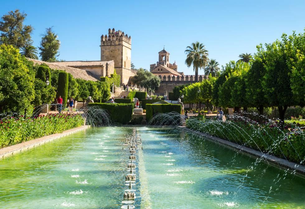 Los jardines del Alcázar de los Reyes Cristianos, en Córdoba.