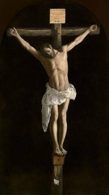 The crucified Christ painted by Zurbarán that is inside Our Lady of Granada.