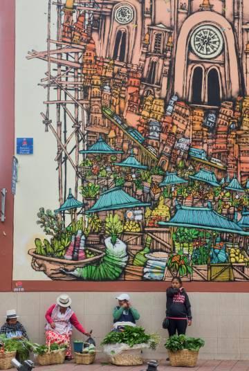 El mercado 10 de Agosto, en Cuenca (Ecuador).