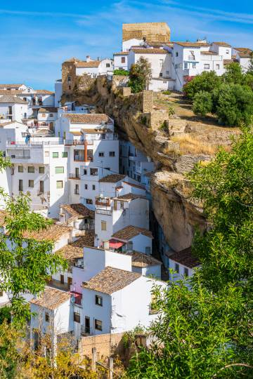 View of the Cadiz town of Setenil de las Bodegas.