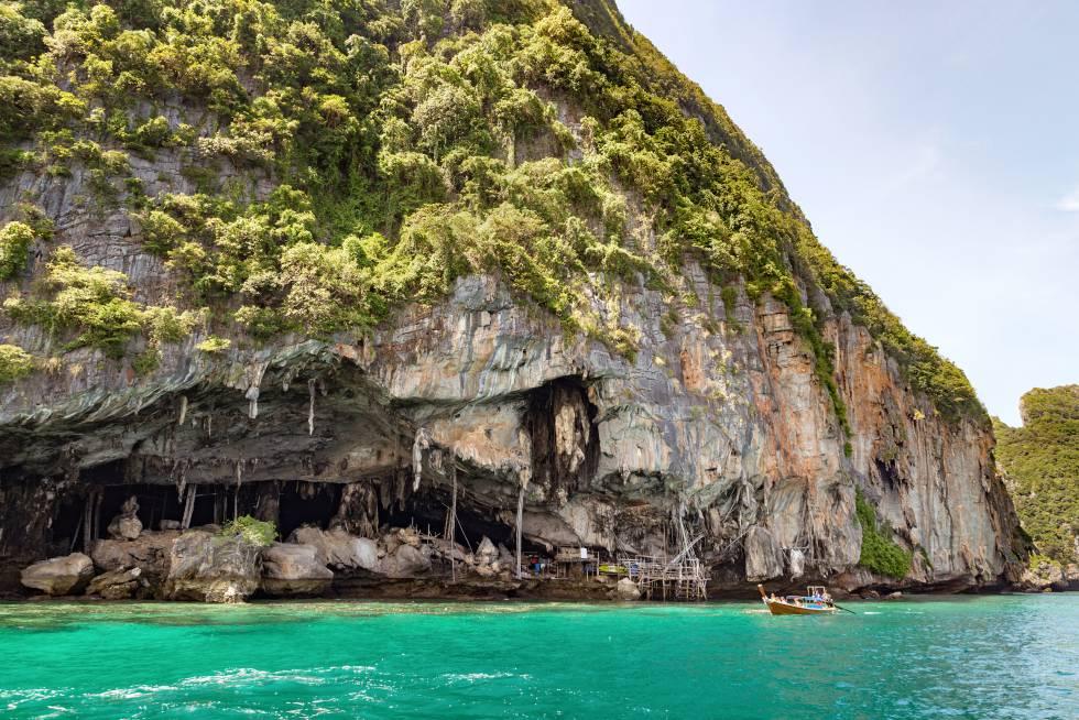 Viking Cave, uno de los lugares en el que anidan las salanganas.