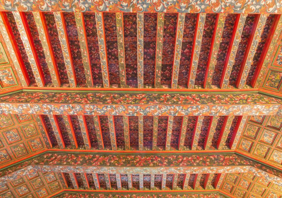 Detalle del artesonado del monasterio de San Antonio el Real, hoy un hotel.