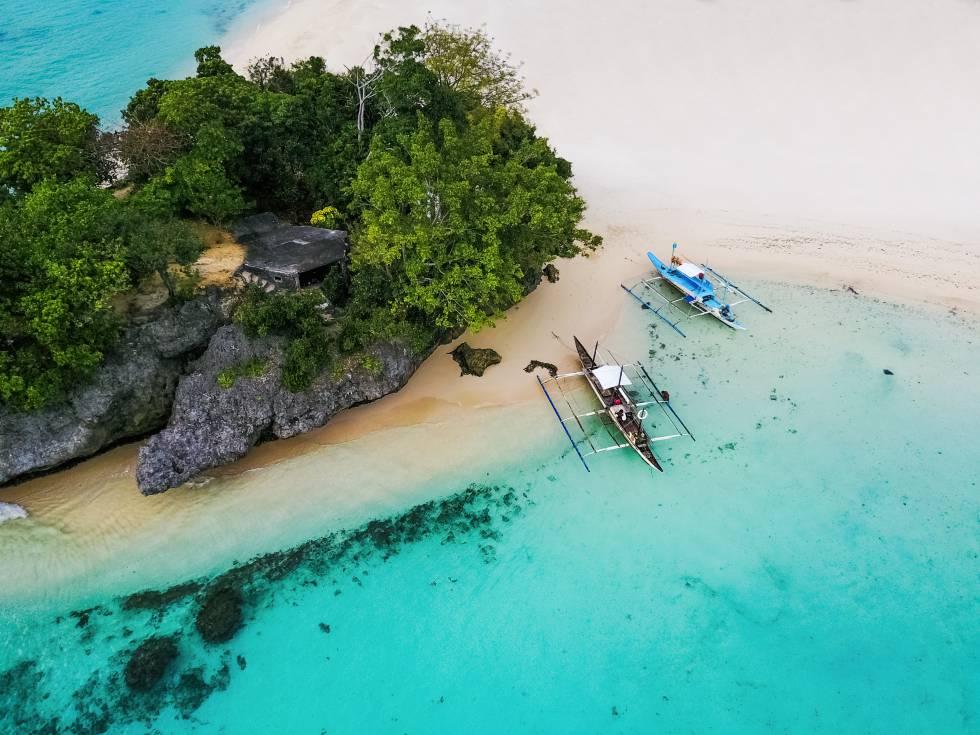 Vista aérea de la isla de Borácay, en Filipinas.