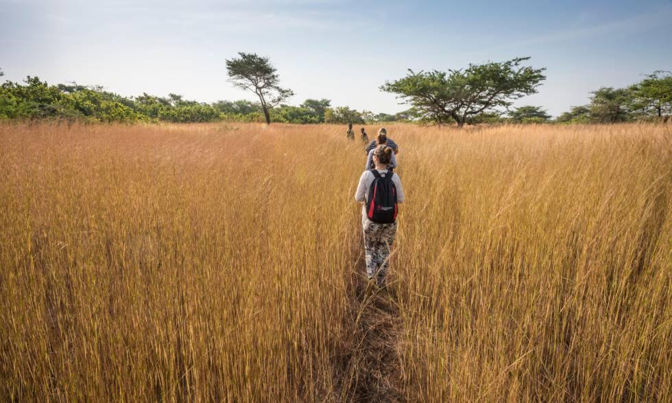 Senderismo en el parque nacional Orango (Guinea-Bisáu).